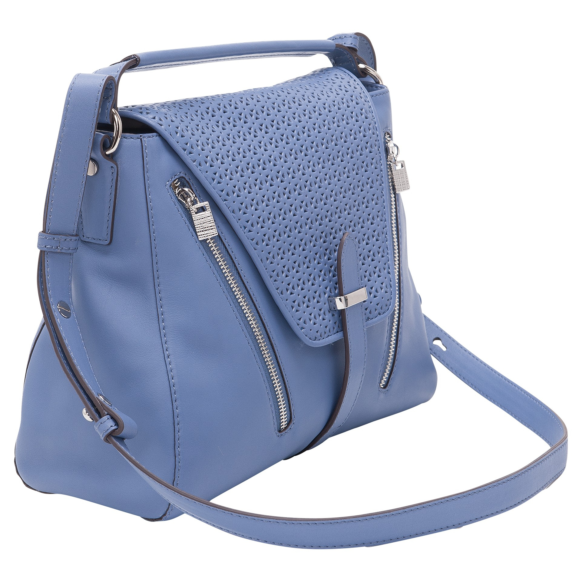 French Connection Zoe Tote Handbag in Blue Cornflower (Blue)