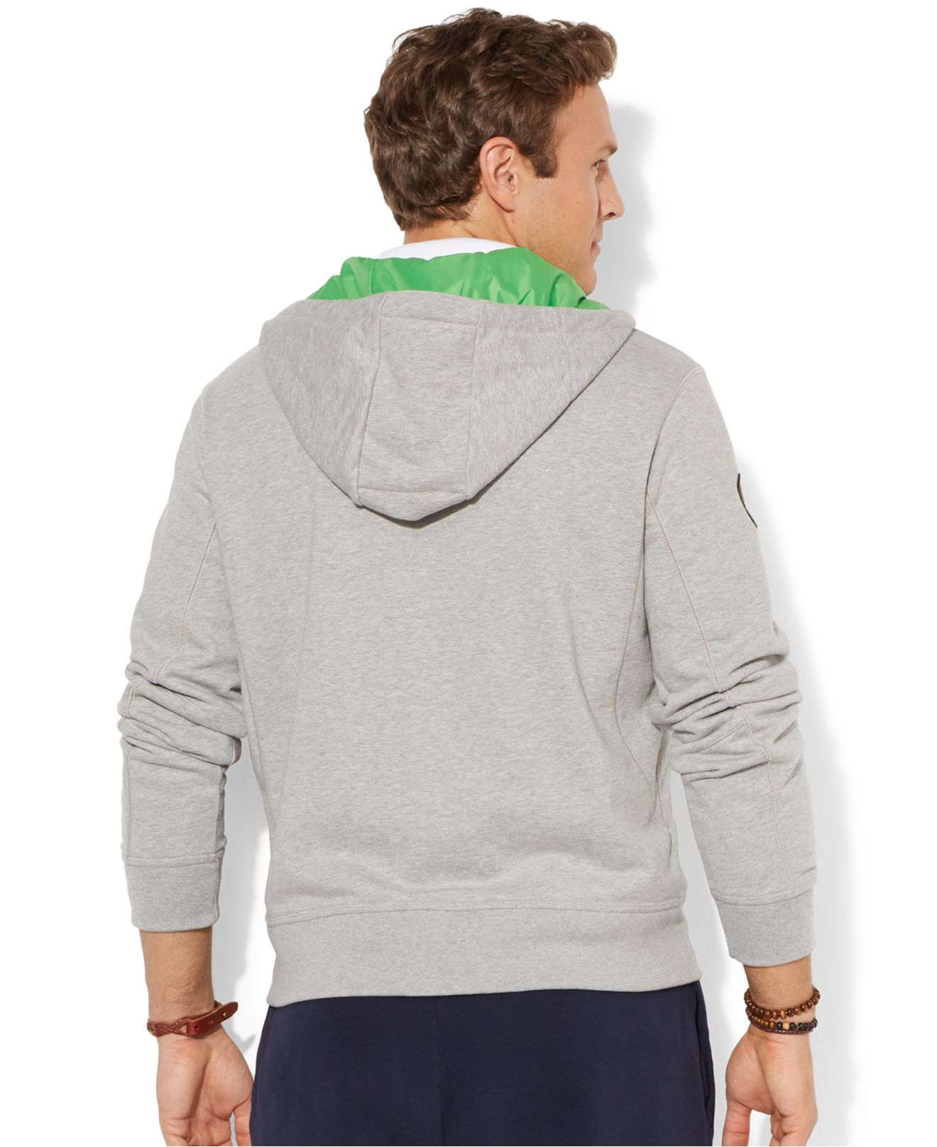Polo Ralph Lauren Big And Tall Fleece Contrast Hoodie In