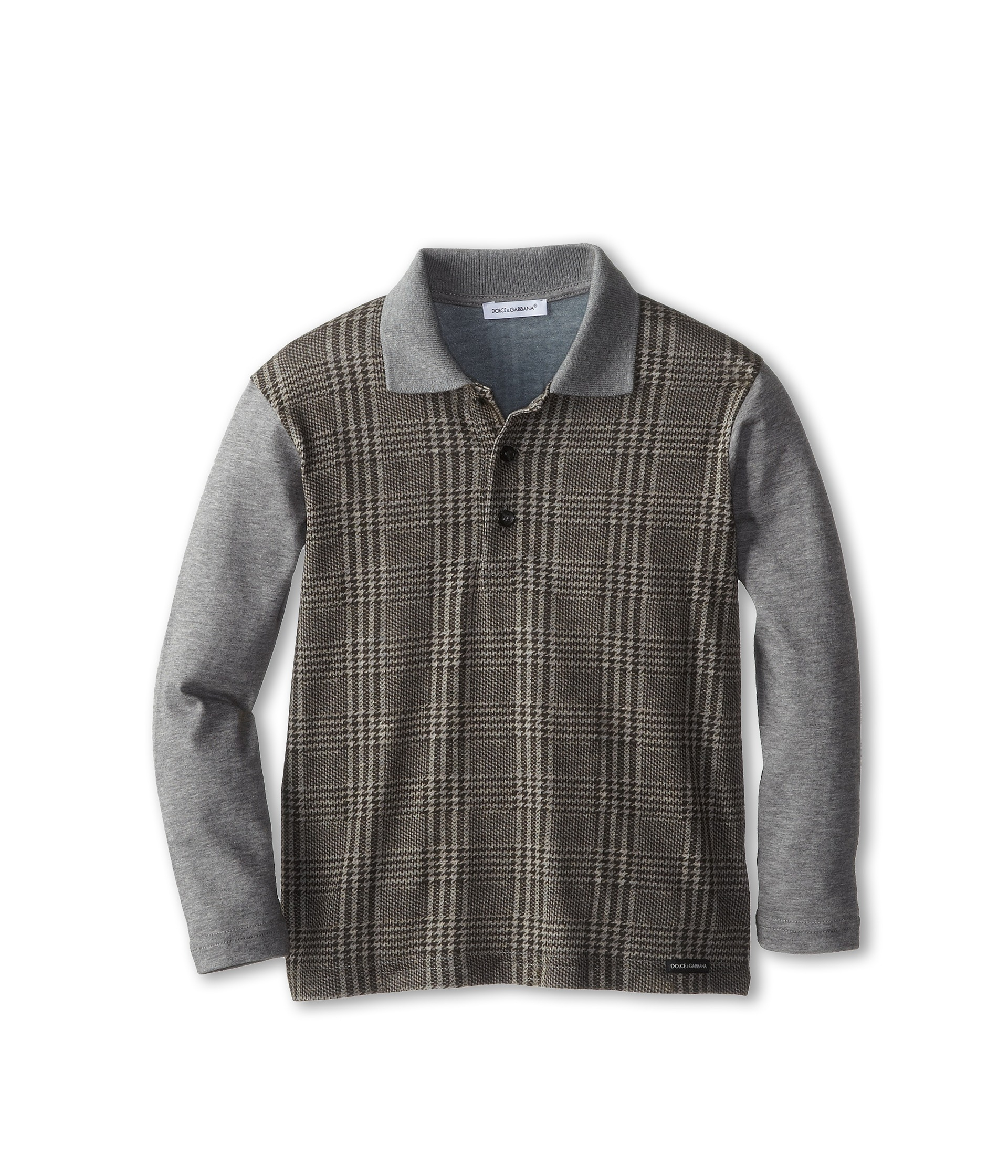 Dolce Gabbana Long Sleeve Plaid Polo Shirt Toddlerlittle