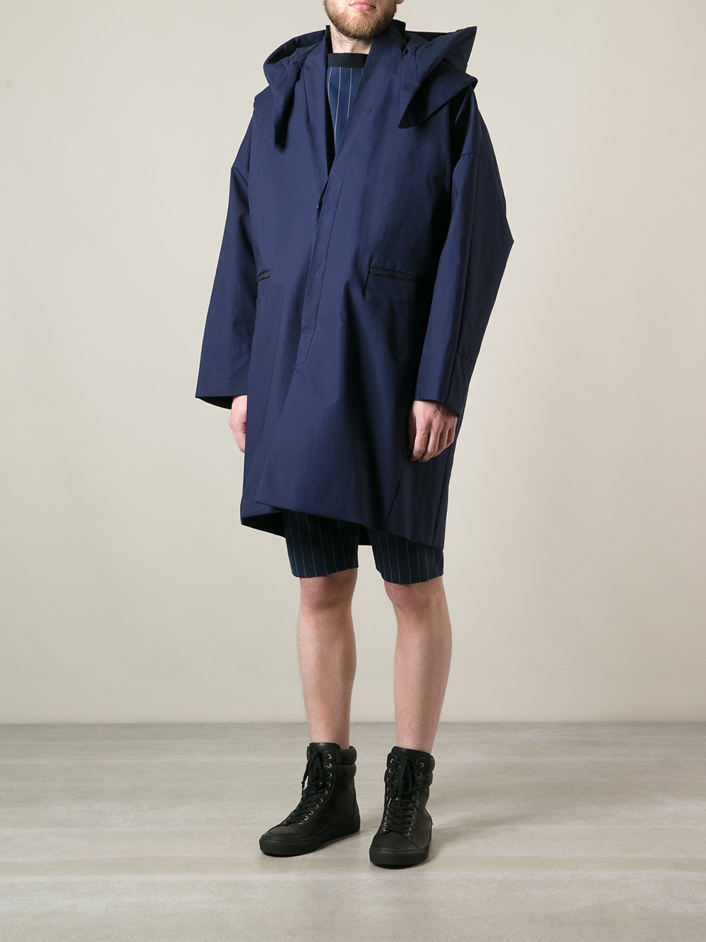 Juun.j Oversized Parka Coat in Blue for Men | Lyst