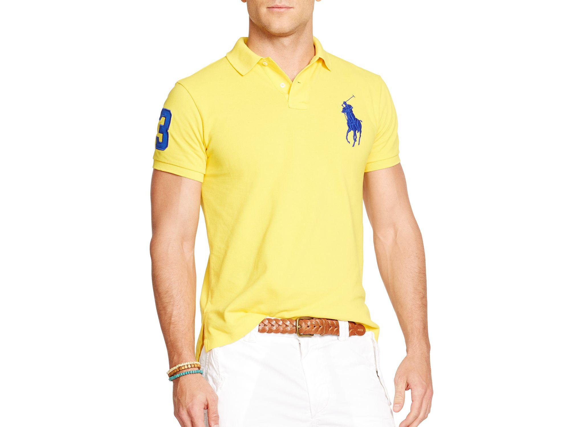 2eb26df1 Ralph Lauren Polo Custom-fit Big Pony Mesh Polo Shirt - Slim Fit in ...