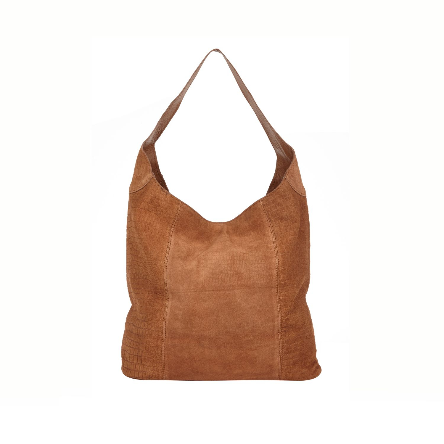 River Island Brown Leather Slouch Bag