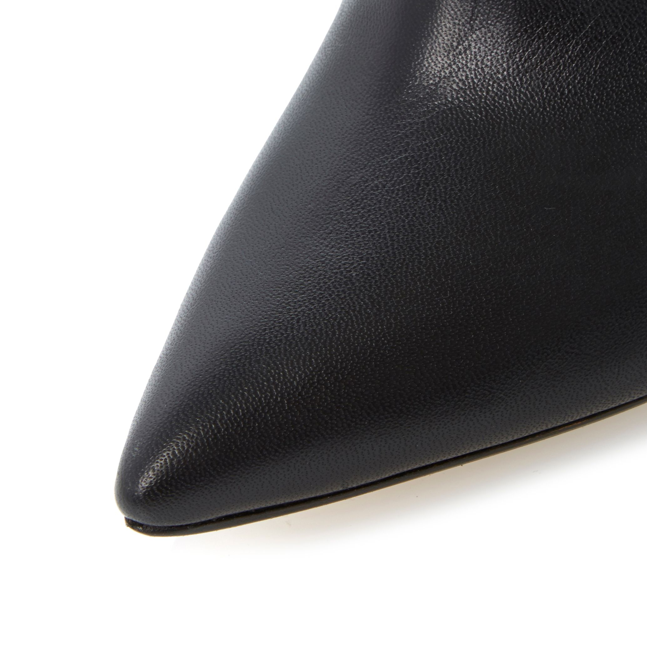 Dune Leather Chrissie Open Back Shoe Boot in Black Leather (Black)