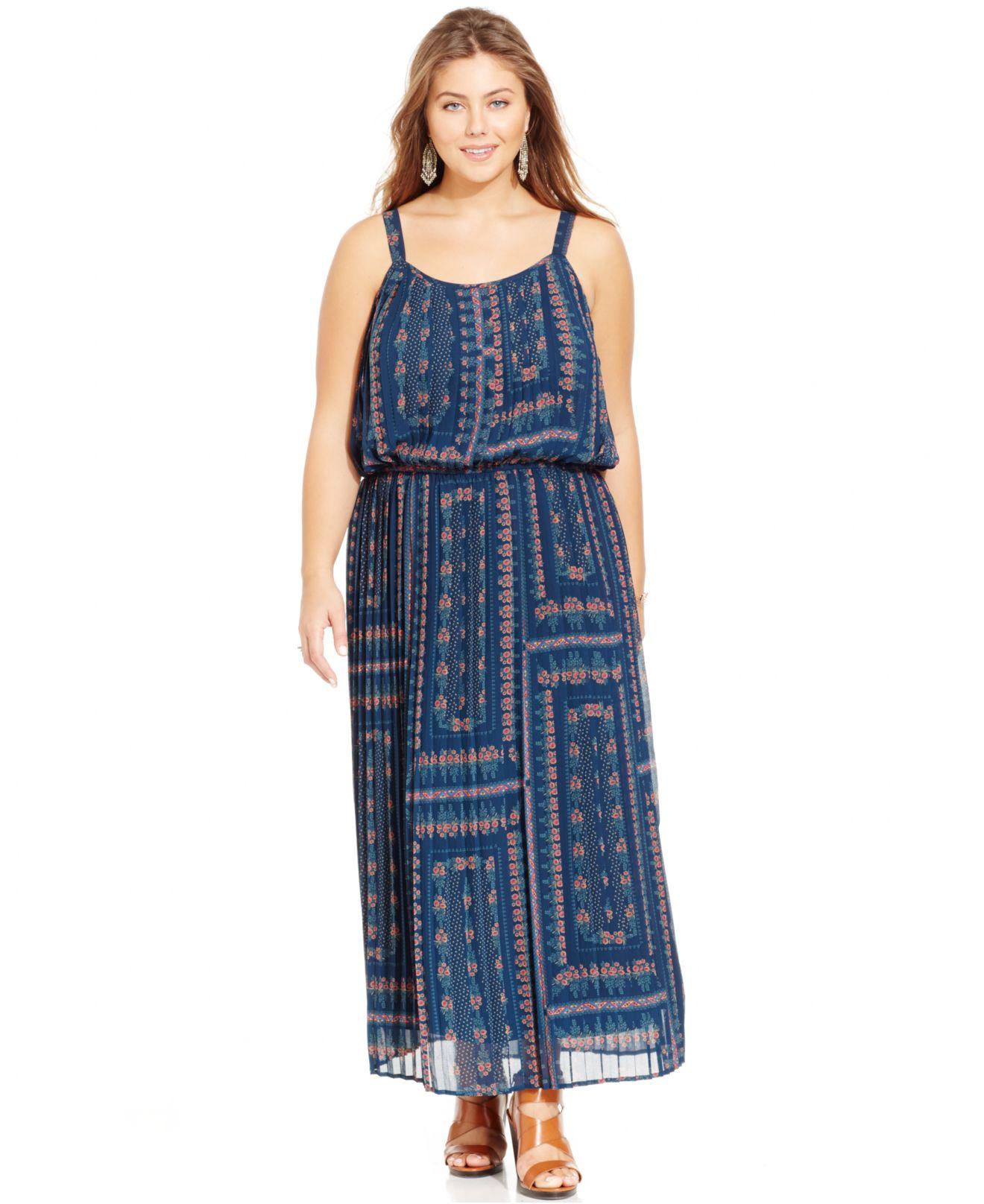 Plus size blouson maxi dress