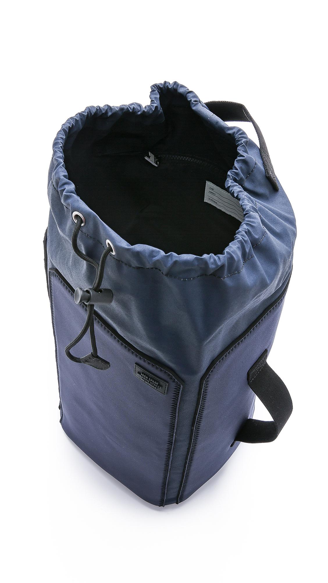 jack spade surf canvas backpack in blue for men lyst