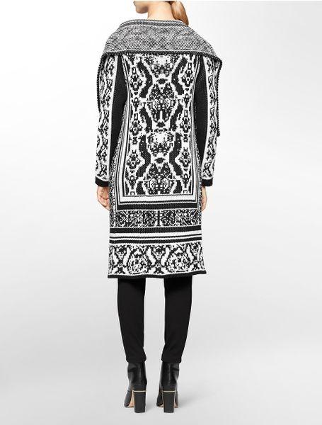 calvin klein white label birdseye sweater jacket in black. Black Bedroom Furniture Sets. Home Design Ideas
