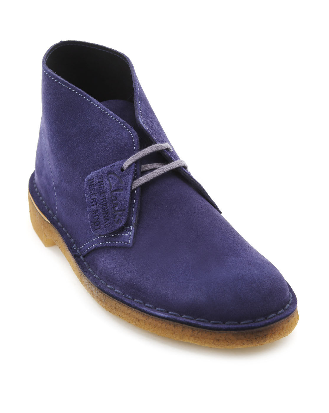 clarks original blue suede desert boots in blue for lyst