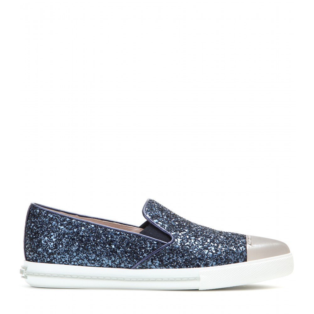 lowest price cheap price Miu Miu mesh slip-on sneakers cheap sale exclusive cheap sale shopping online explore online amazing price cheap price Rn2yNw