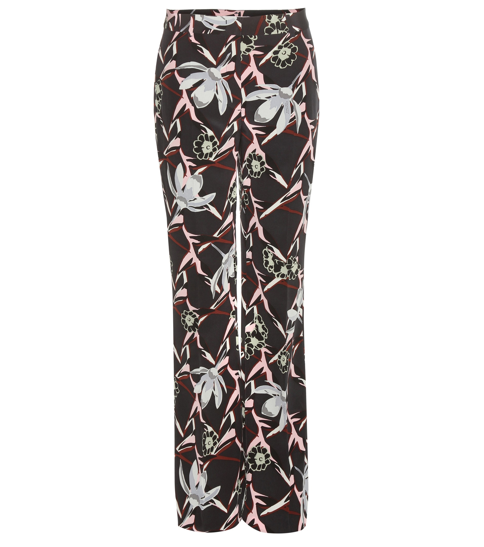 dorothee schumacher perfect paradise printed silk trousers in black lyst. Black Bedroom Furniture Sets. Home Design Ideas