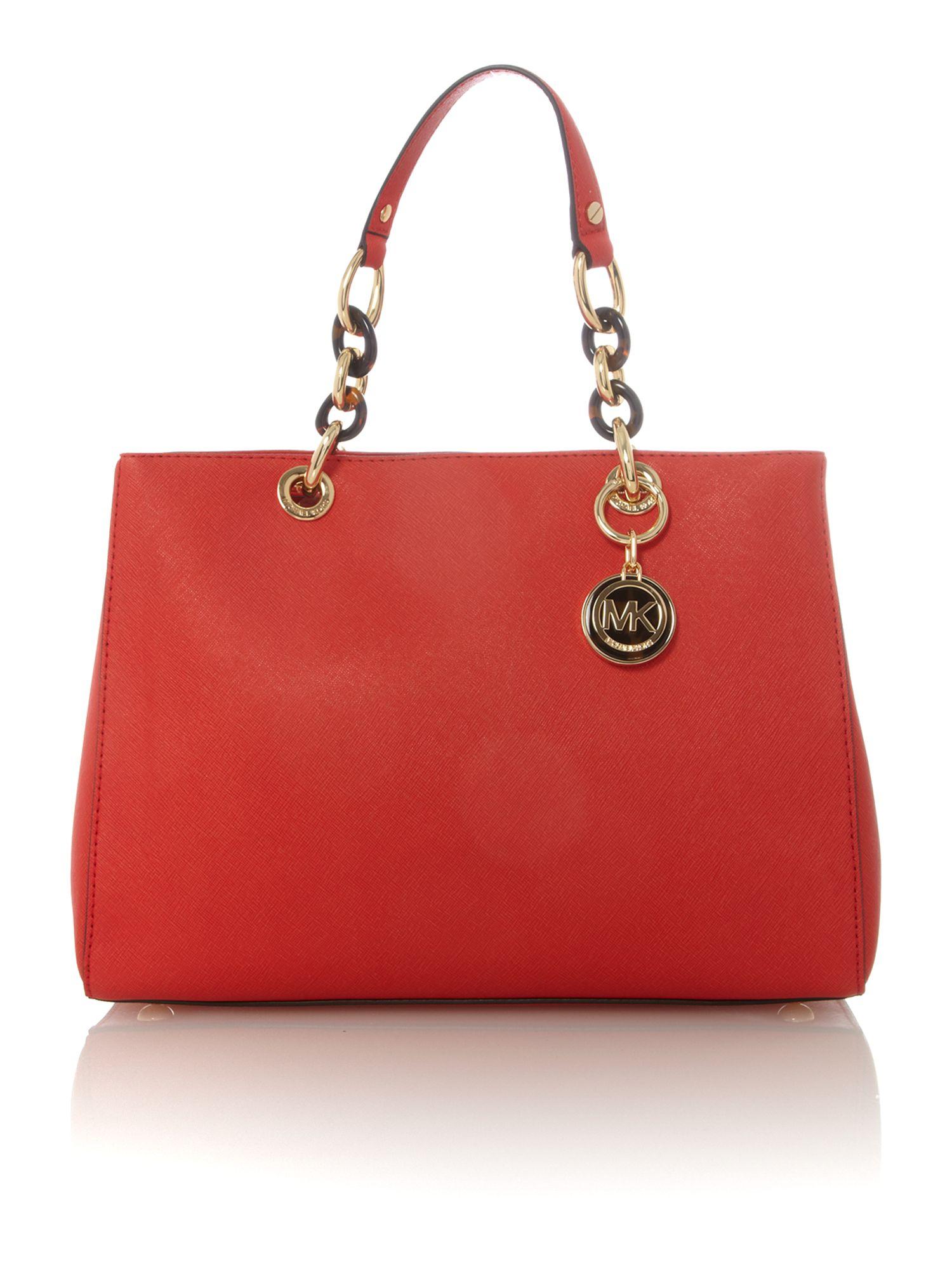 Michael Kors Cynthia Red Ew Tote Bag