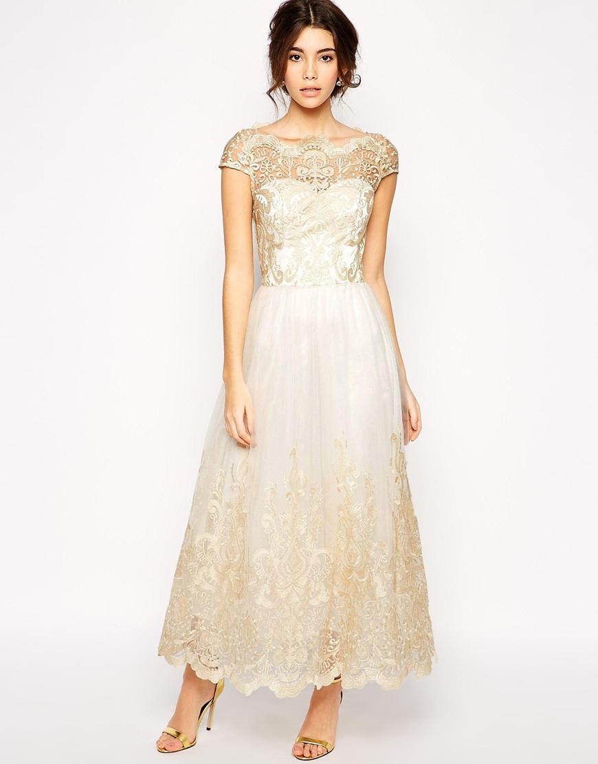 Premium Metallic Lace Prom Dress In Longer Length