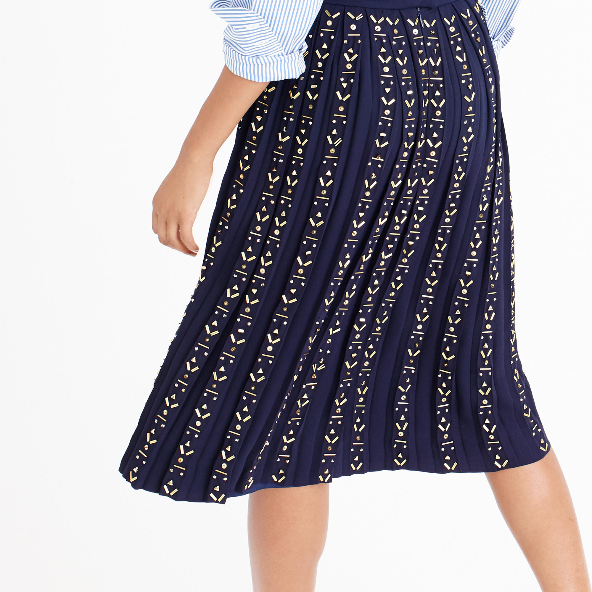 j crew collection beaded a line skirt in blue lyst