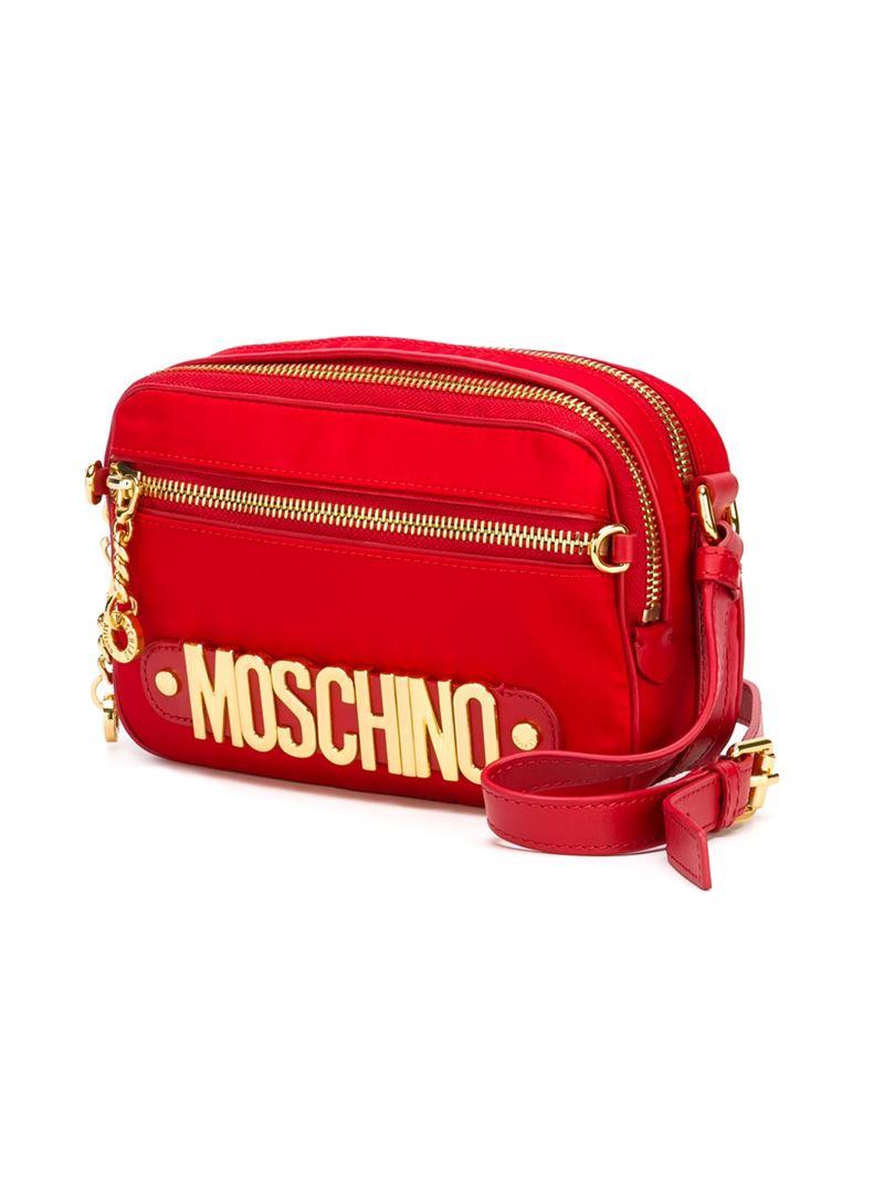 Lyst Moschino Logo Crossbody Bag In Red