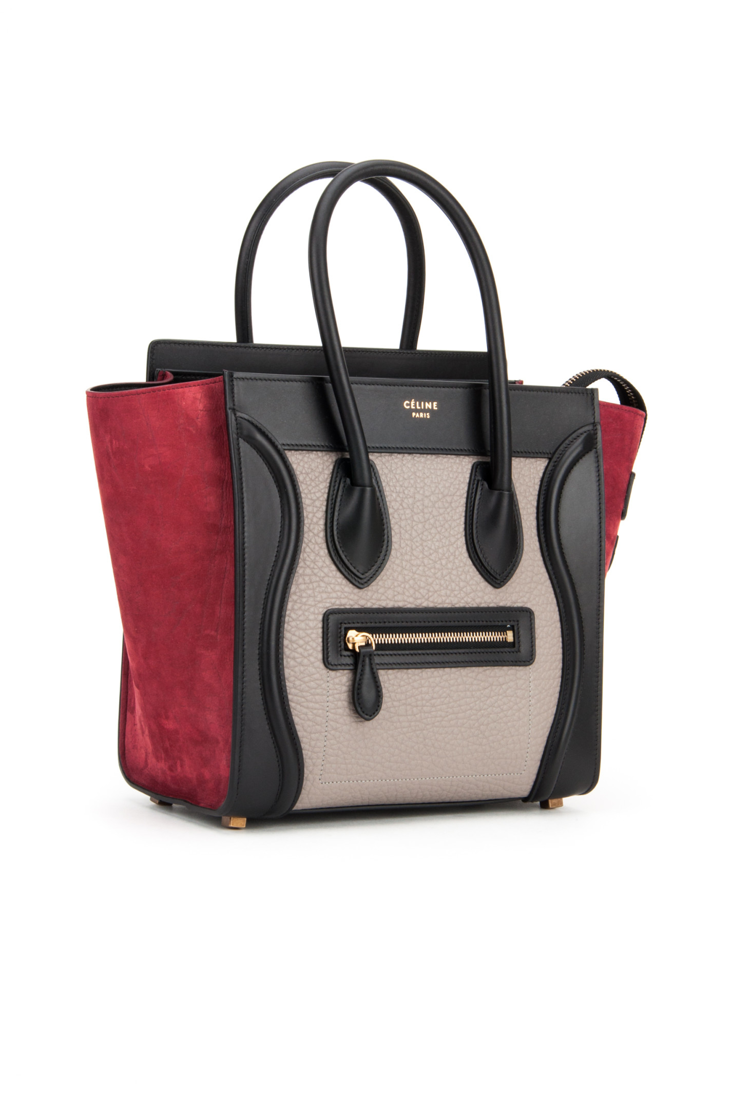C¨¦line Multicolor Luggage Bag in Red (DARK RUBY) | Lyst