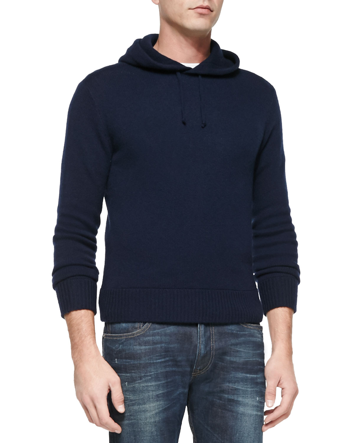 Ralph lauren black label Cashmere Hooded Sweater in Blue for Men ...