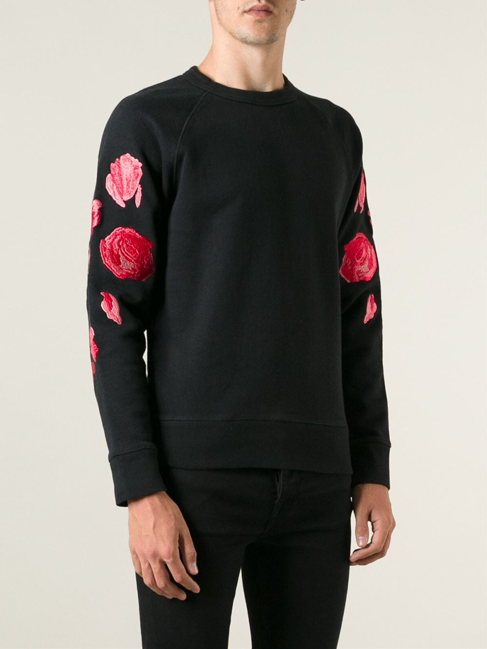 Lyst our legacy embroidered rose sweatshirt in black for men
