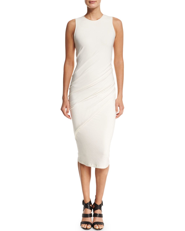 donna karan sleeveless cashmere jersey drape front dress. Black Bedroom Furniture Sets. Home Design Ideas