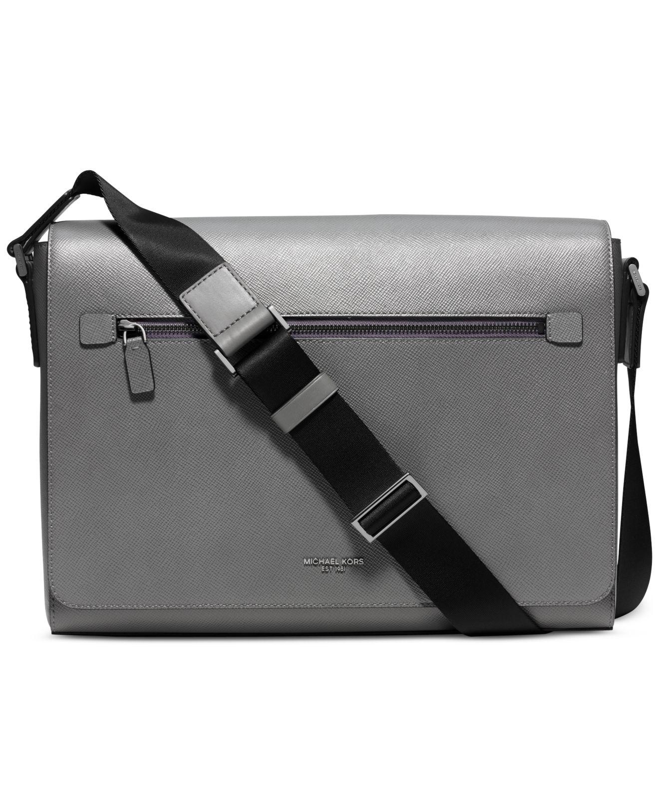 341e50aa872b Michael Kors Mens Messenger Bag. Michael Kors Signature Messenger Bag in  Black for Men - Lyst