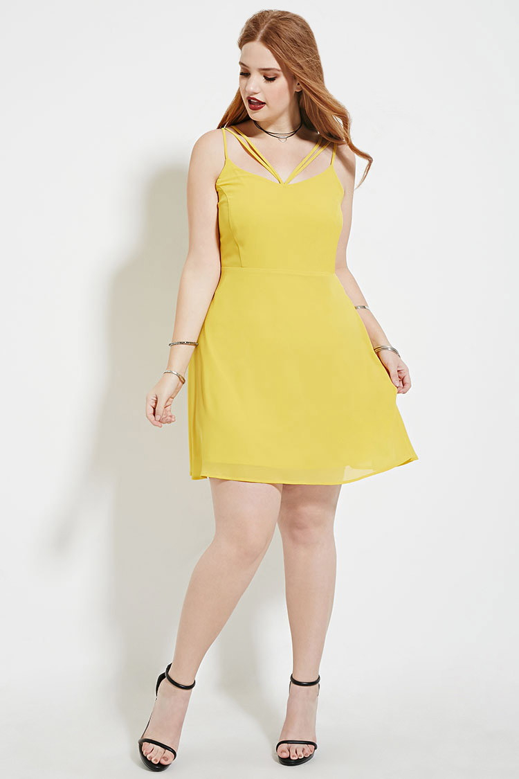 Forever 21 Plus Size Strappy Cami Dress in Metallic - Lyst