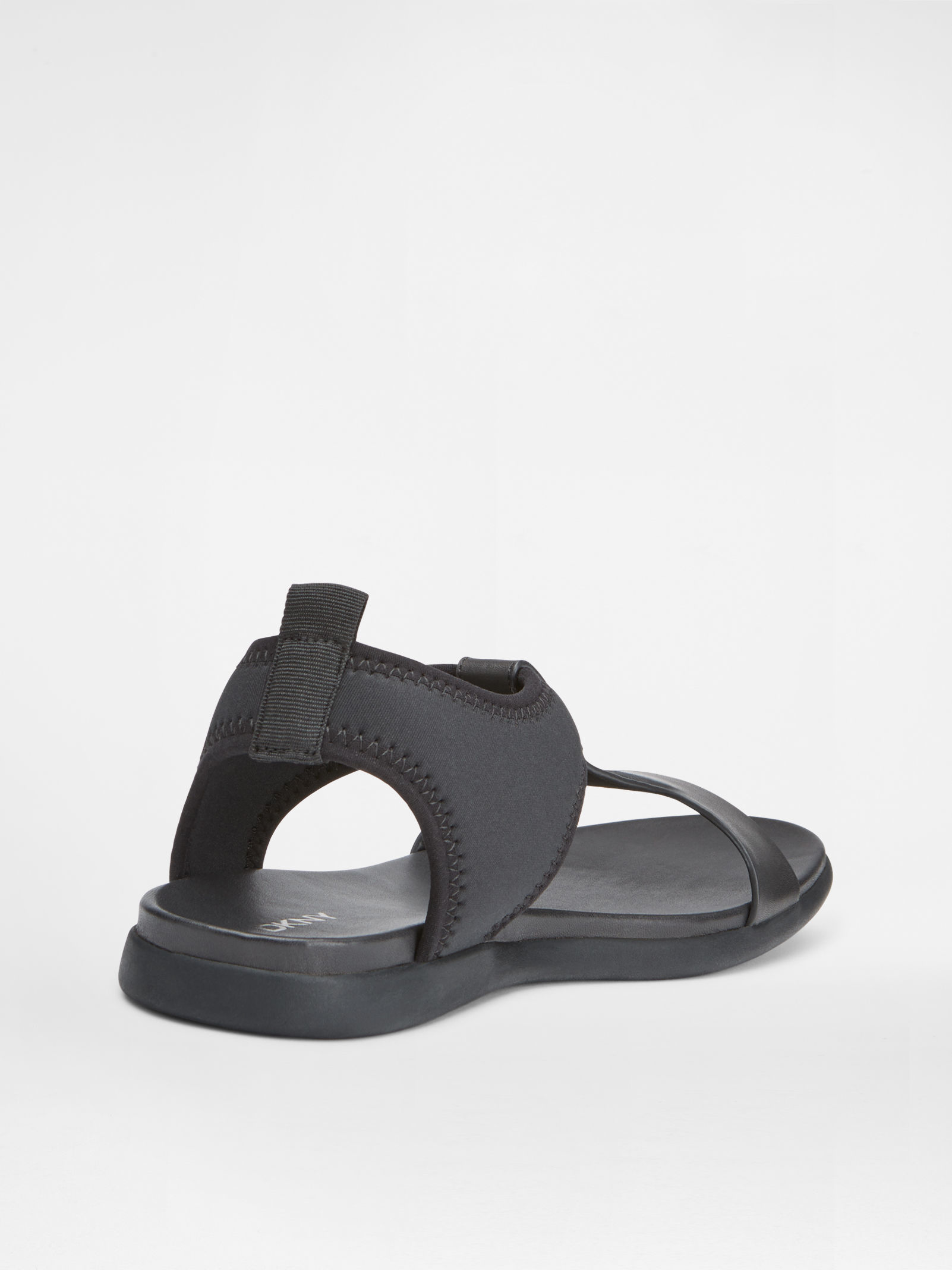 dkny caprise leather and scuba sandal in black lyst