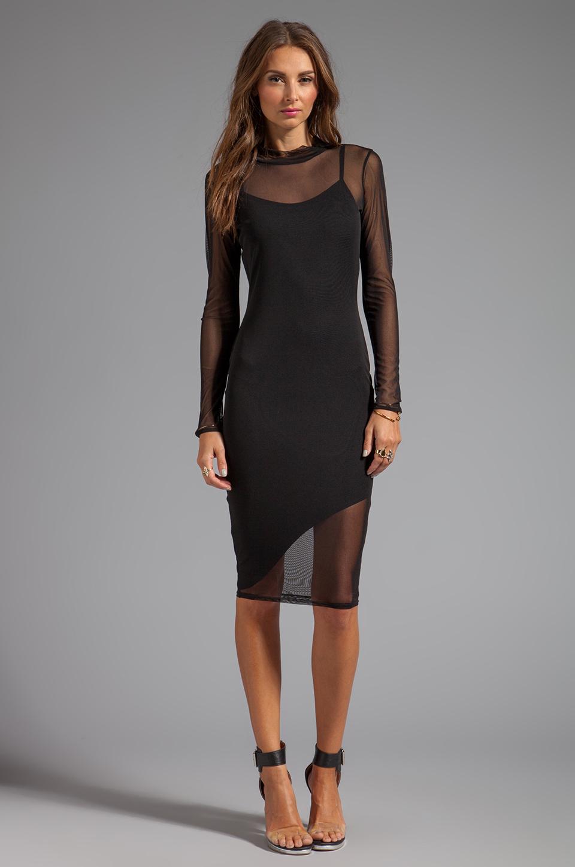 Black Mid Sleeve Dress