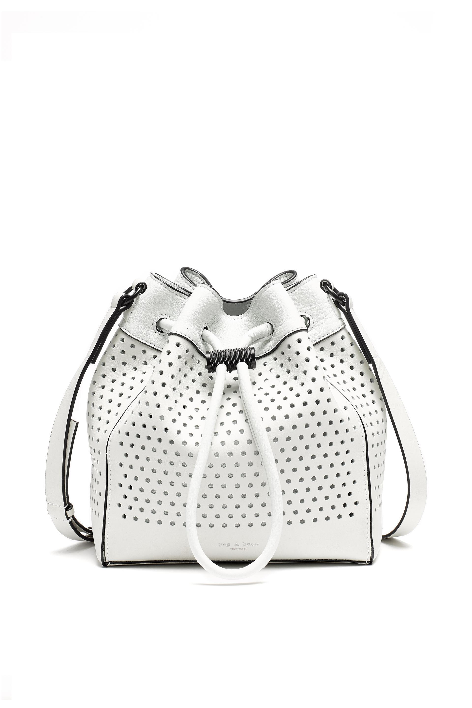 8fa613685027 Lyst - Rag   Bone Aston Mini Bucket in White