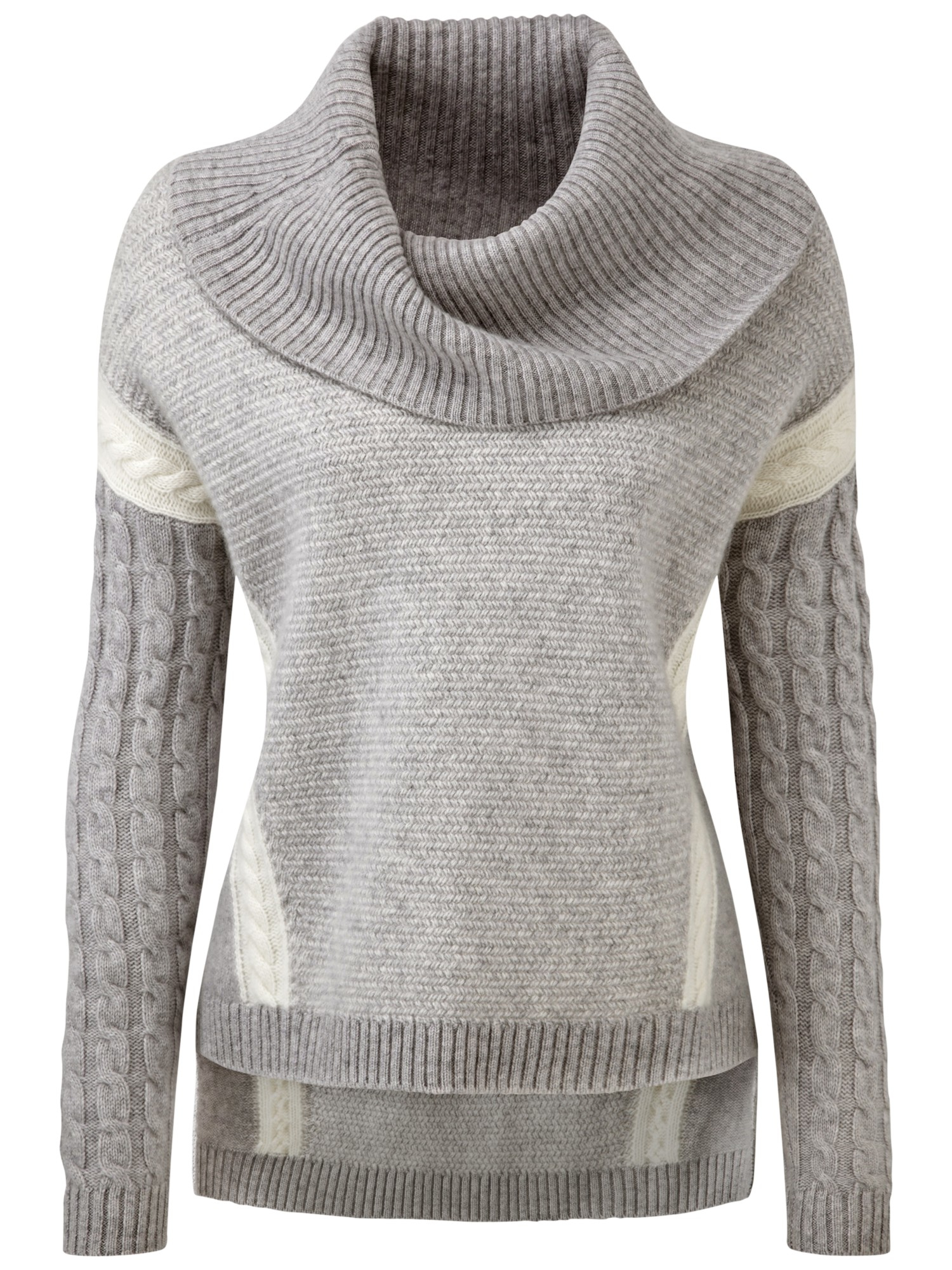 Pure collection Luxury Cashmere Cowl Neck Sweater in Gray | Lyst