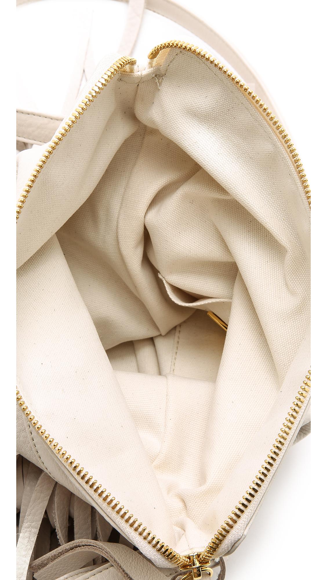 B-Low The Belt Leather Kenzy Cross Body Bag in Bone (White)
