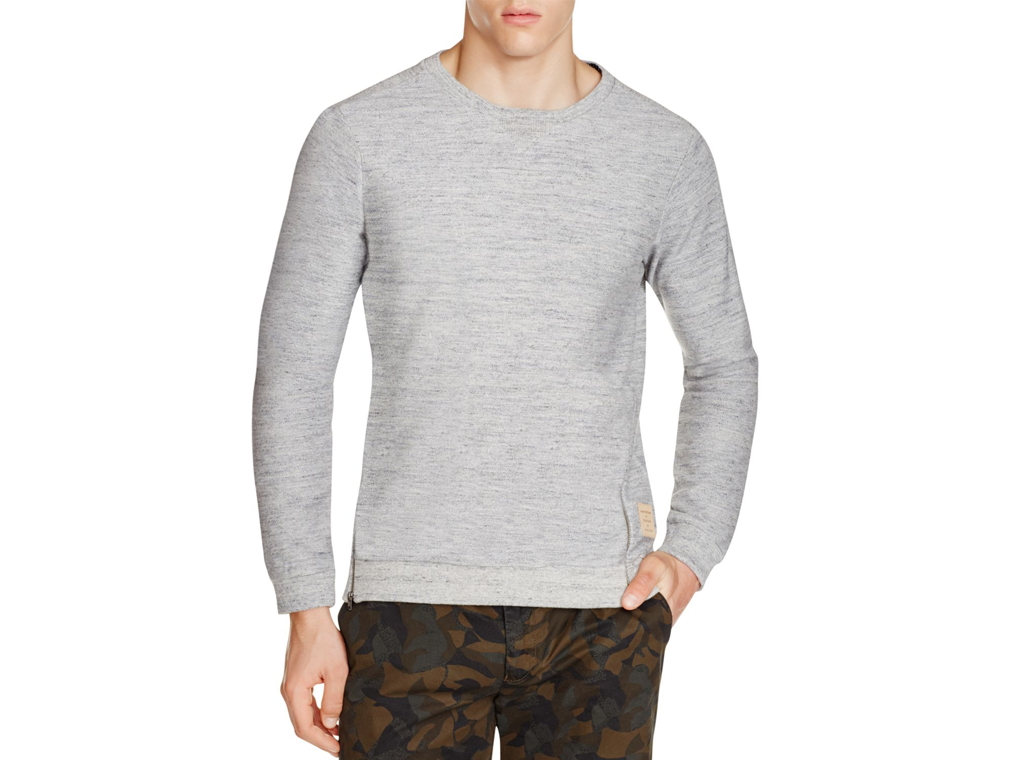 scotch soda heathered pullover in blue lyst. Black Bedroom Furniture Sets. Home Design Ideas