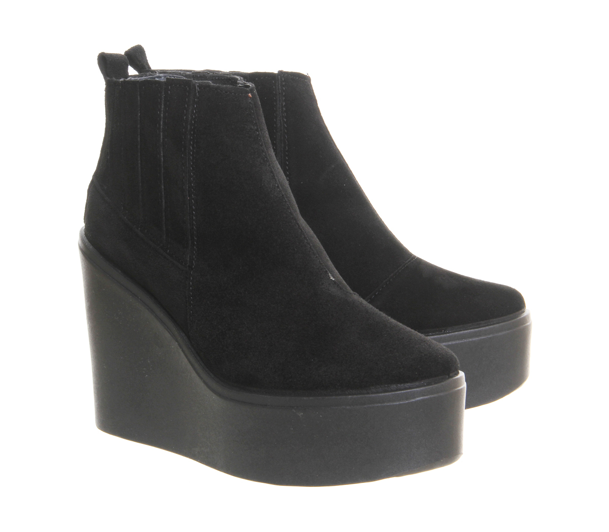 office wedge ankle boots in black lyst