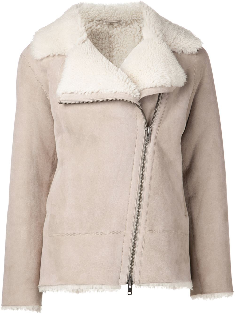 Sofie d'hoore Shearling Jacket in Natural | Lyst