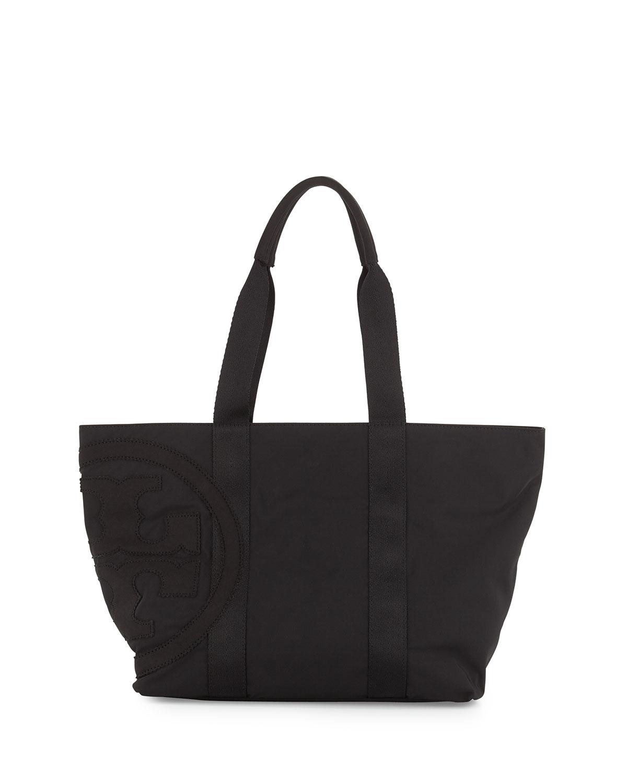 Tory Burch Penn Nylon Small Tote Bag In Black Lyst