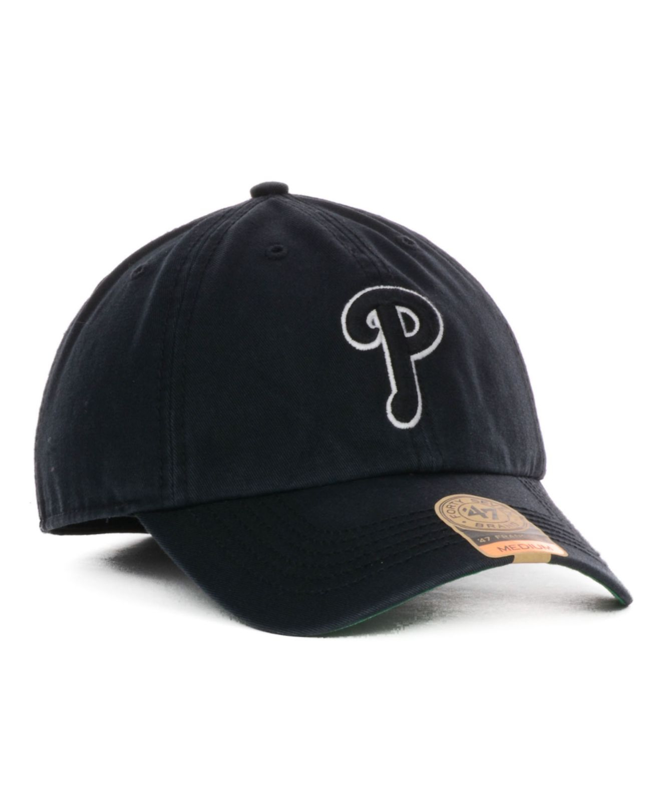 80b8bf1442ed64 47 Brand Philadelphia Phillies Black Out Franchise Cap in Black for ...