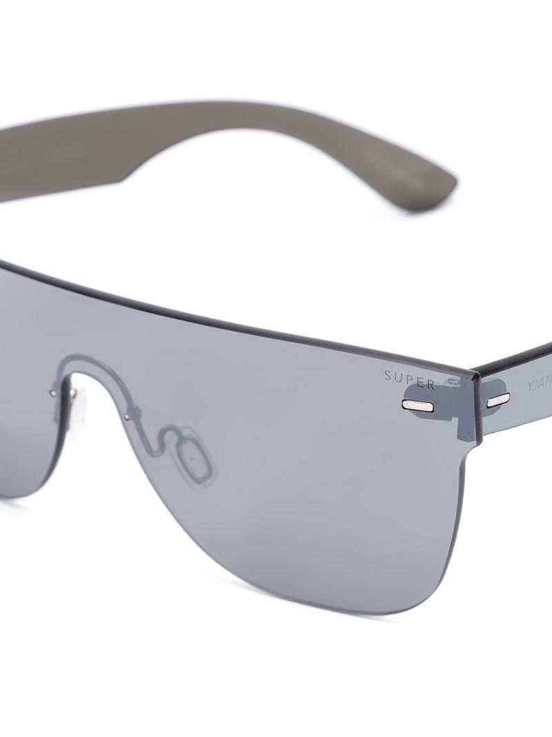 cb7d9ab170 Retrosuperfuture   39 tuttolente Flat Top  39  Sunglasses in Silver (BLACK