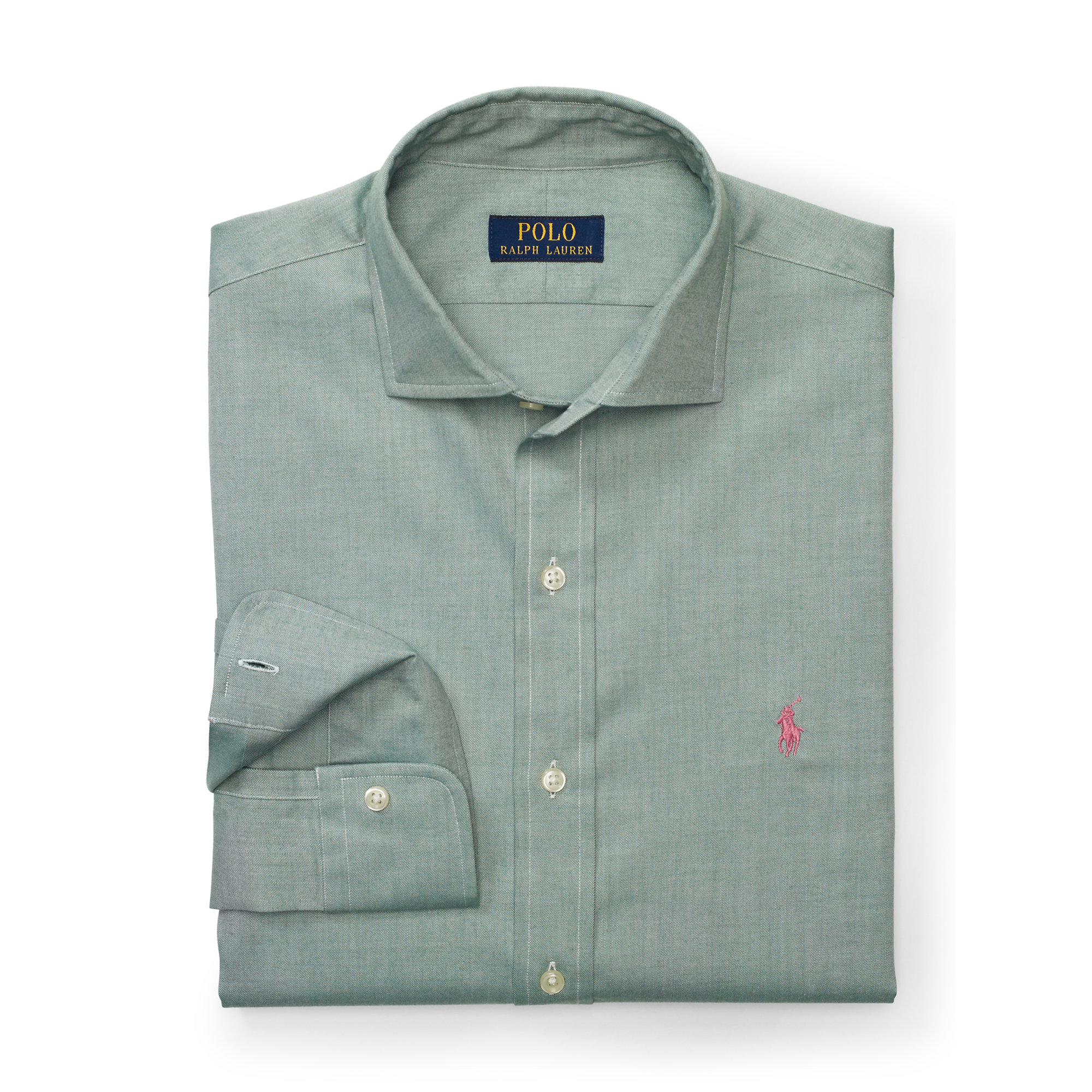 Pink Pony Brushed Cotton Twill Shirt In Blue For Men Lyst