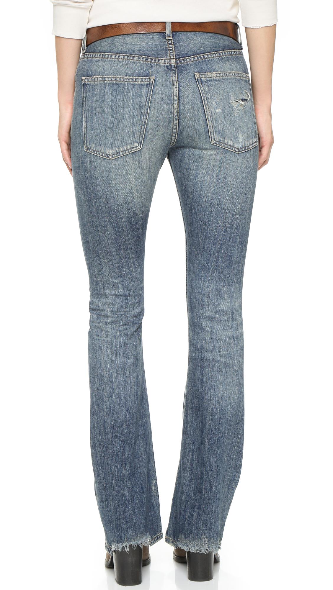 Citizens of Humanity Premium Vintage Sasha Twist Flare Jeans - Freemont in Blue