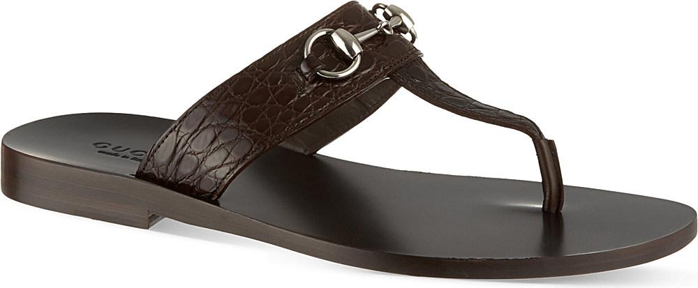 d21c59264 Gucci Ben Horsebit Thong Sandals - For Men in Brown for Men - Lyst