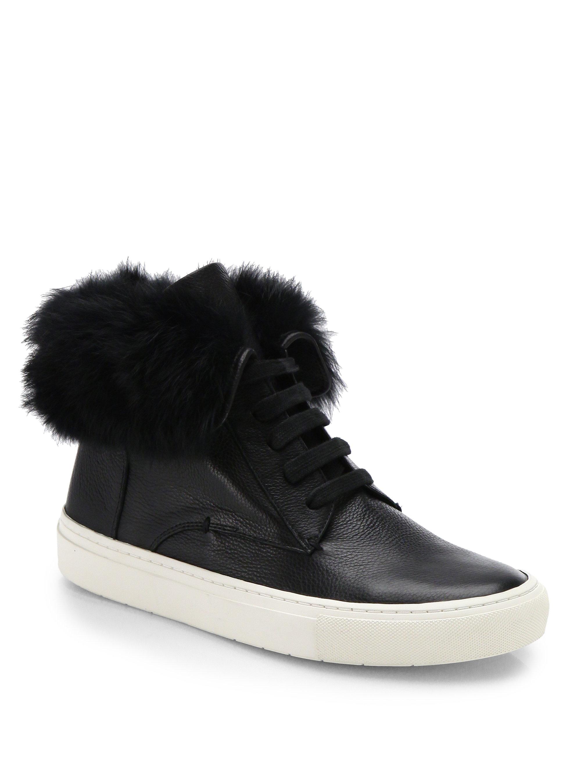 Vince Fur-Trimmed High-Top Sneakers cheap 2014 newest official cheap online explore cheap price sale 100% original sale big sale juqOtC