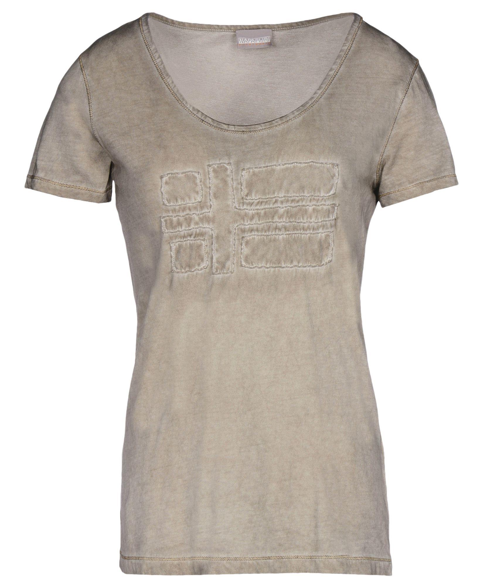 napapijri short sleeve t shirt in natural lyst. Black Bedroom Furniture Sets. Home Design Ideas