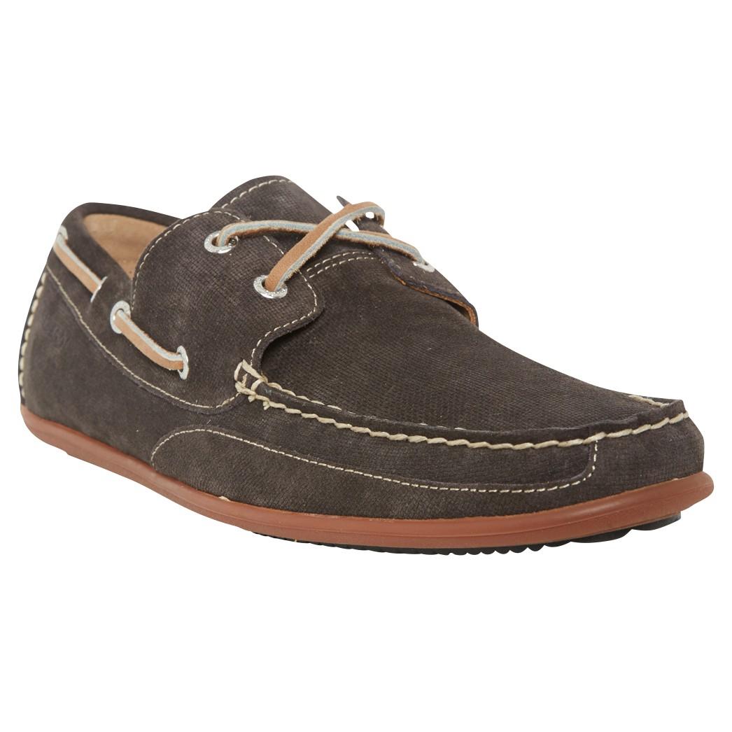 Sebago Canton Nubuck Leather Moccasin Shoes in Grey (Grey) for Men