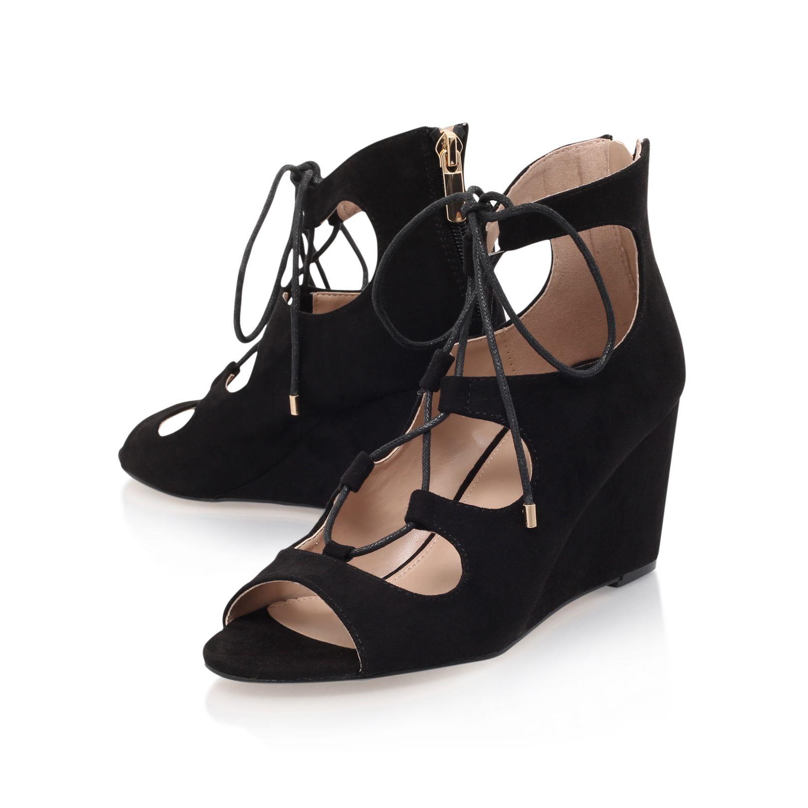 Carvela Kurt Geiger Sophia High Heel Wedge Sandals In