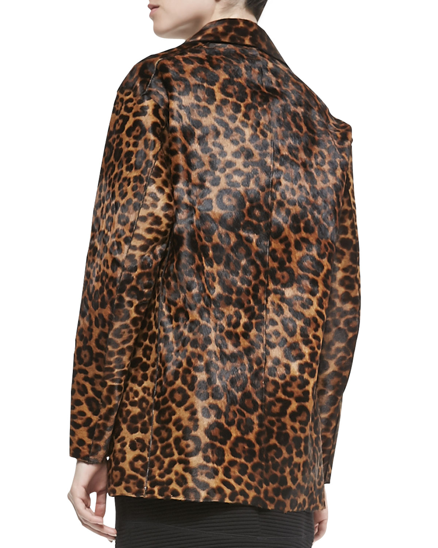 6fa312c3eacb Rag & Bone Sigrid Leopard-Print Calf Fur Coat - Lyst
