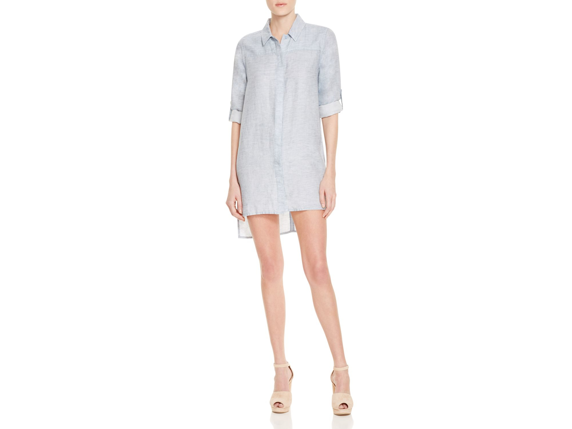 French connection chambray shirt dress in blue lyst for French connection shirt dress