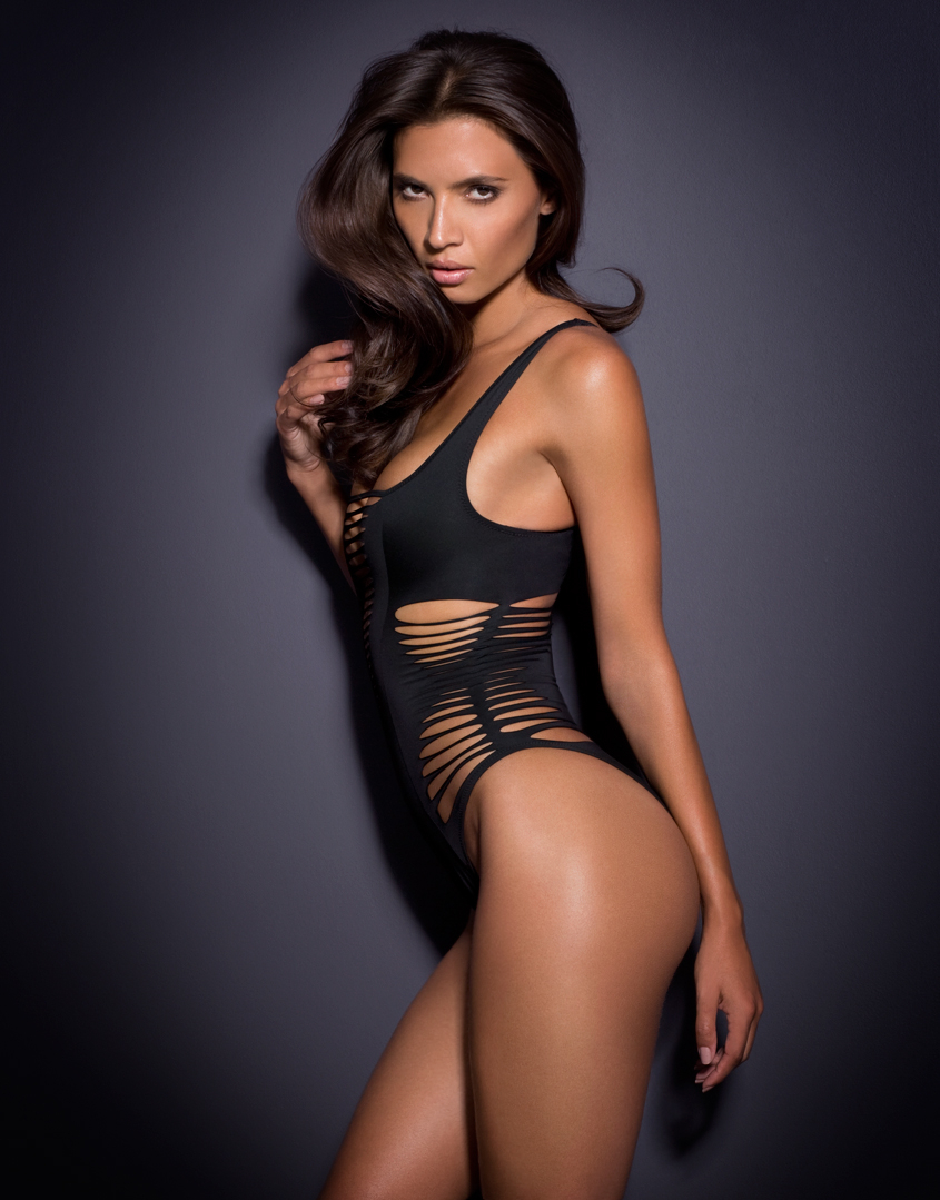 Agent Provocateur Dakotta Swimsuit Black in Black - Lyst 388fce8fe