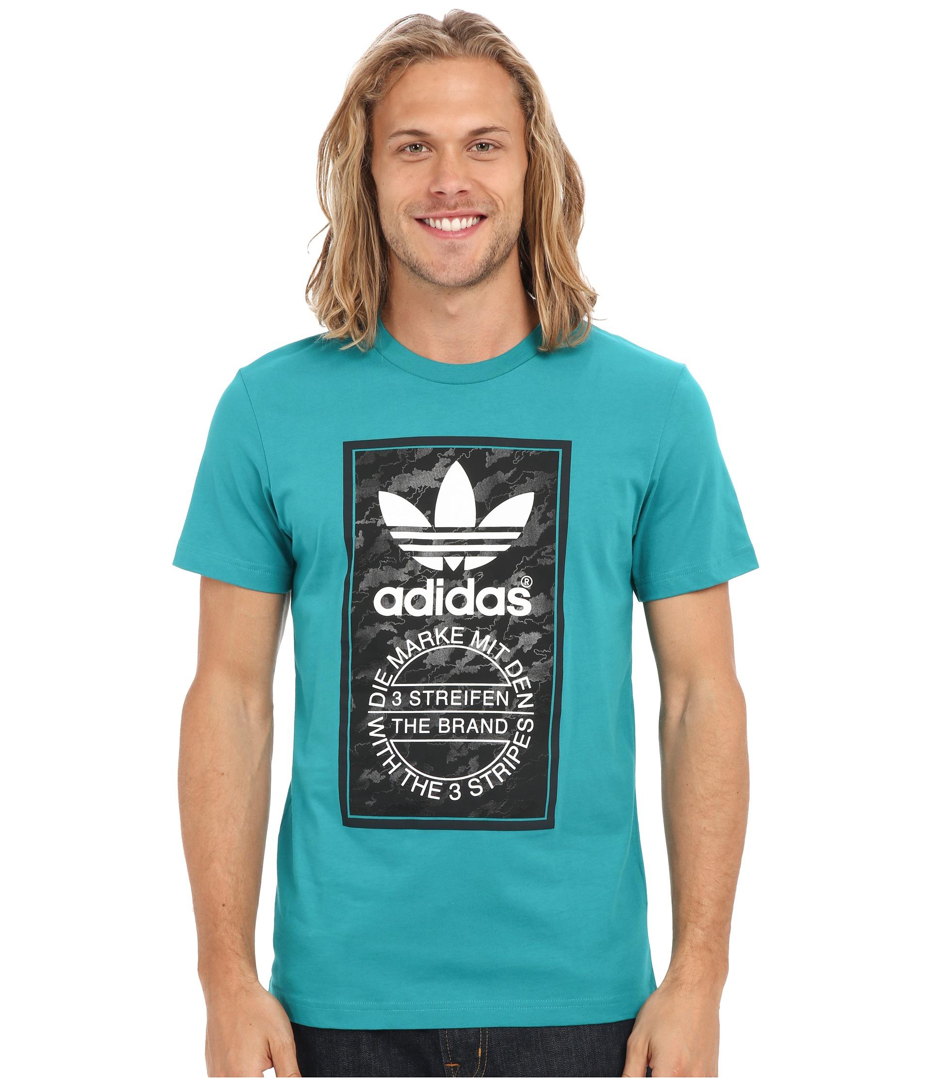 da22fce7c Lyst Adidas Originals O Tongue Label Tee In Blue For Men