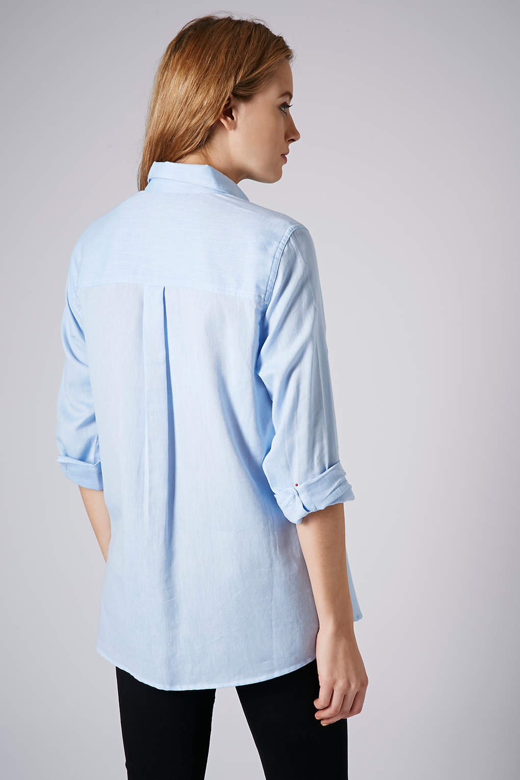 Lyst Topshop Maternity Chambray Shirt In Blue