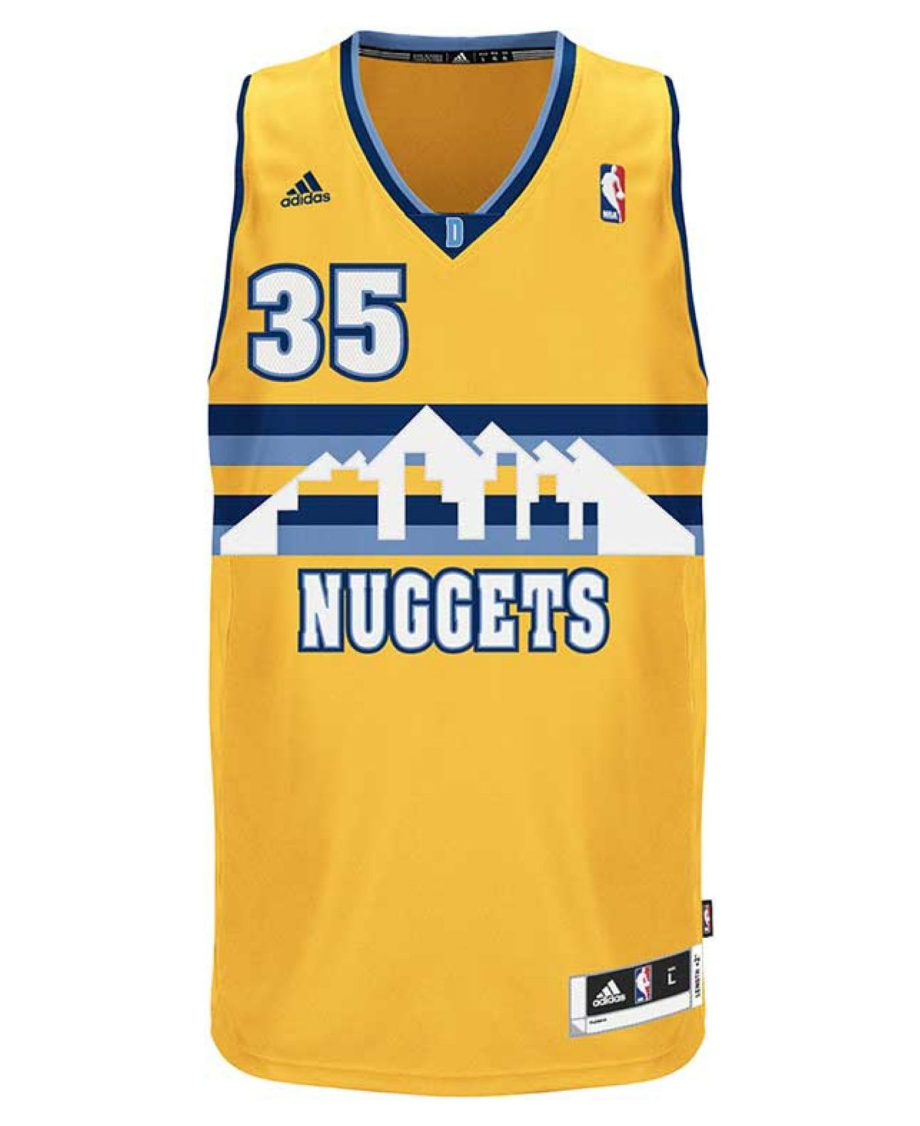 Adidas Men'S Denver Nuggets Kenneth Faried Jersey In