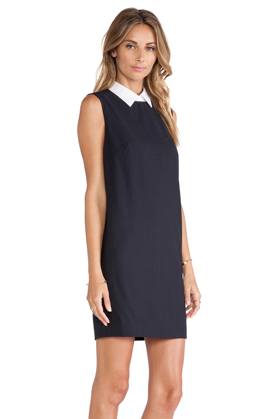 Theory Audrice Dress In Blue Navy Lyst