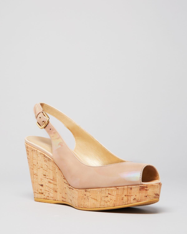 stuart weitzman open toe platform wedge sandals nujean