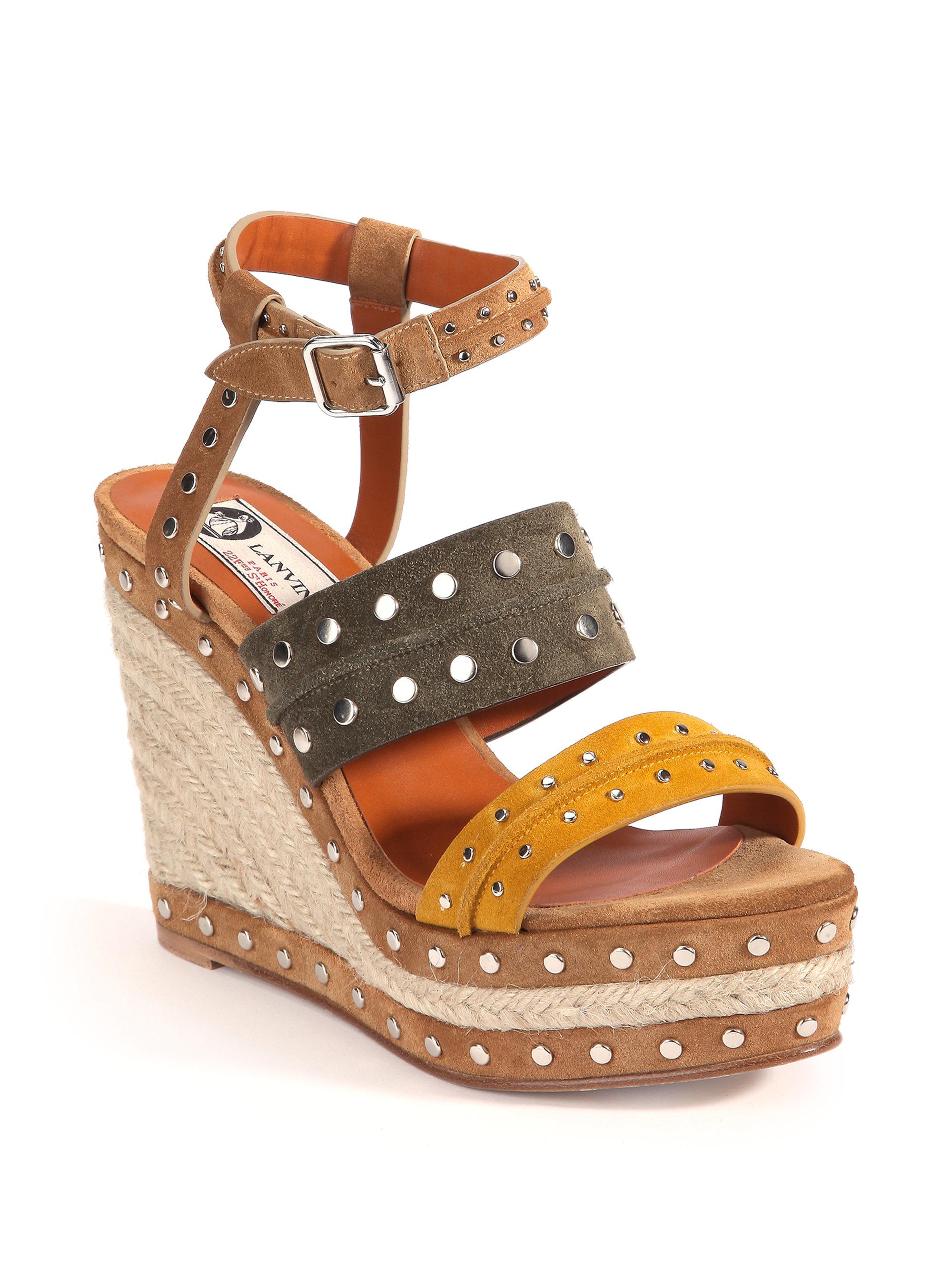 Lanvin Wedge Sandals platform ankle strap